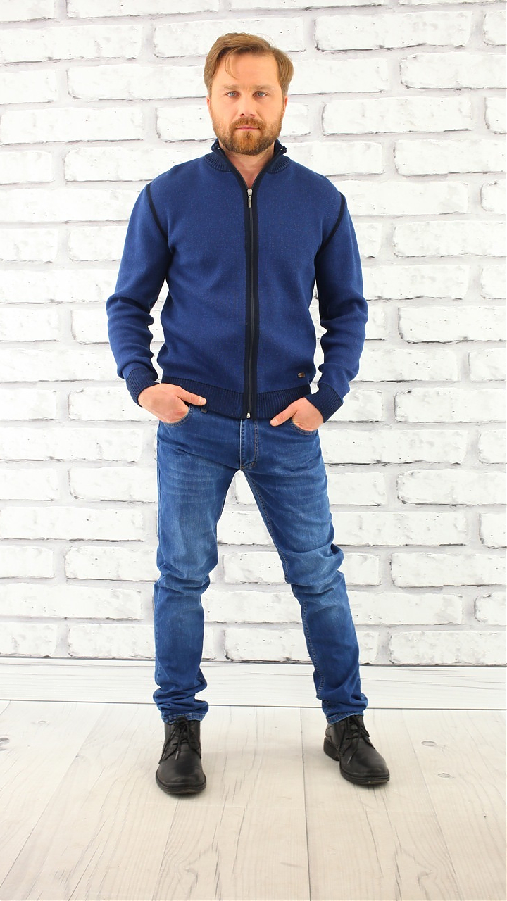 Фото  Джинсы мужские синие